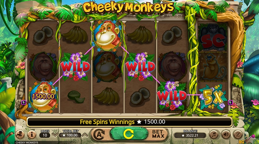 cheeky monkeys screenshot