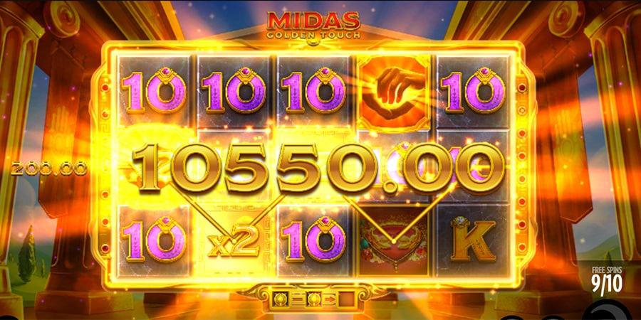 midas golden touch win
