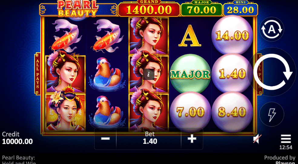 Pearl Beauty Hold and Win Slot Machine